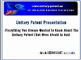unitary patent presentation thumbnail